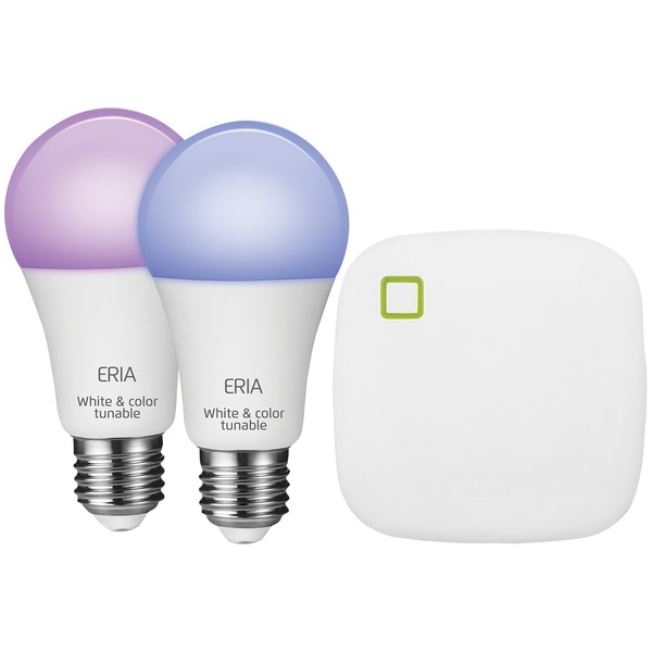 Eria A19 Colors And White Shades Smart Light Starter Kit