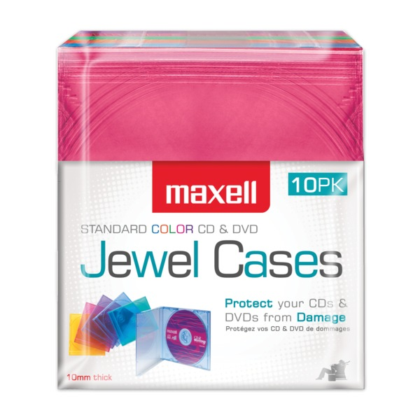 Maxell Jewel Cases, 10 Pack