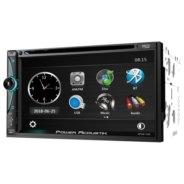Power Acoustik Cpaa-70d 7-inch Double-din In-dash Dvd Receiver W