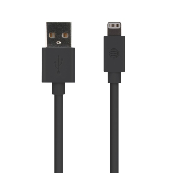 At&t 4-foot Pvc Charge And Sync Lightning Cable (black)