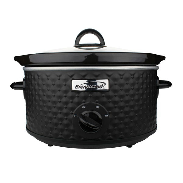 Brentwood Appliances 3.5-quart Diamond-pattern Slow Cooker (blac