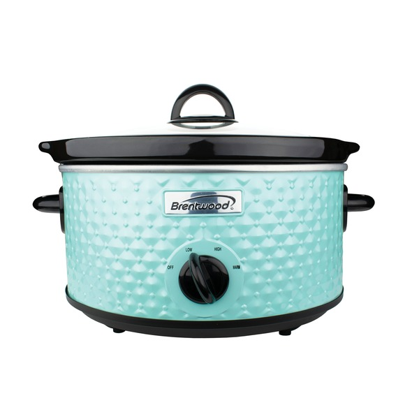 Brentwood Appliances 3.5-quart Diamond-pattern Slow Cooker (blue