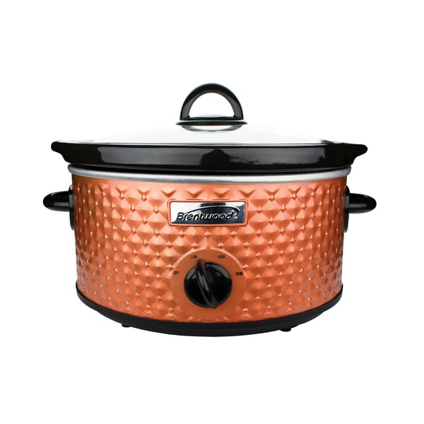 Brentwood Appliances 3.5-quart Diamond-pattern Slow Cooker (brow