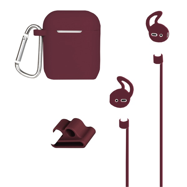 At&t Airpods Case And Accessories Kit (maroon)