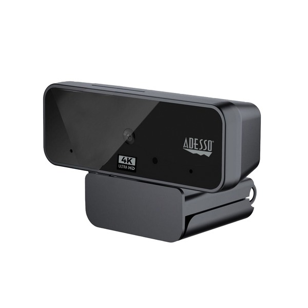 Adesso 4k Ultra Hd Usb Webcam With Built-in Dual Microphone And