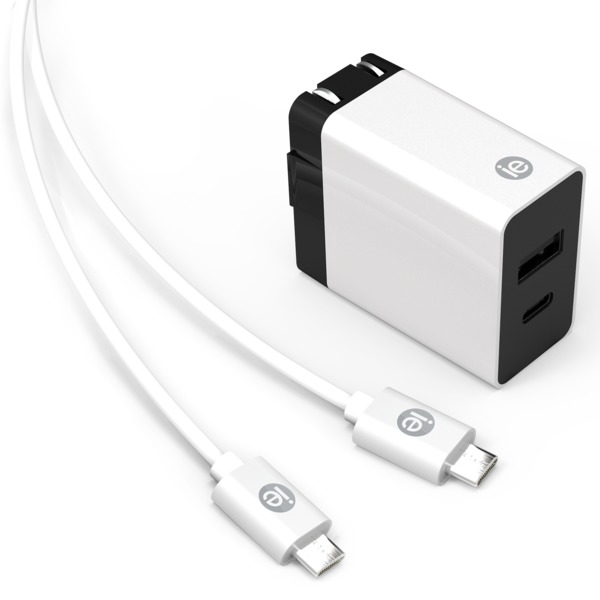 Iessentials 3.4-amp 2-port Usb And Usb-c Wall Charger