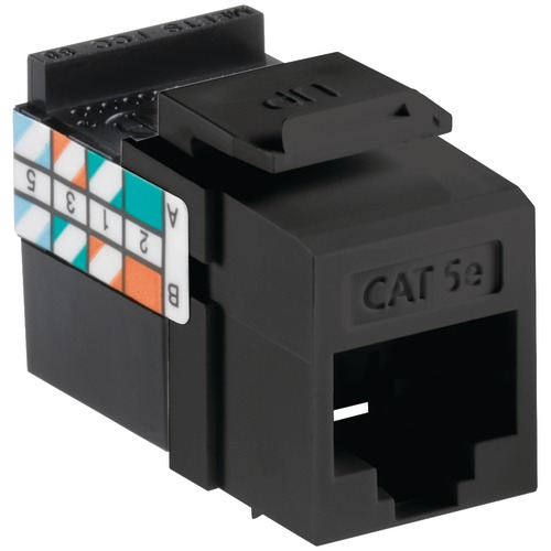 Leviton Quickport Cat-5e Jack (black)