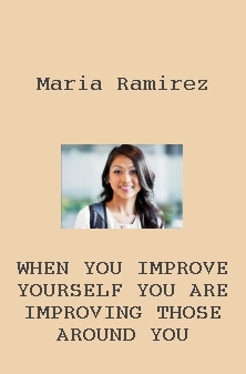 When you improve yourself you are improving those around you