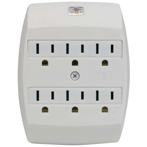 Ge 6-outlet Saf-t-gard Grounded Wall Tap
