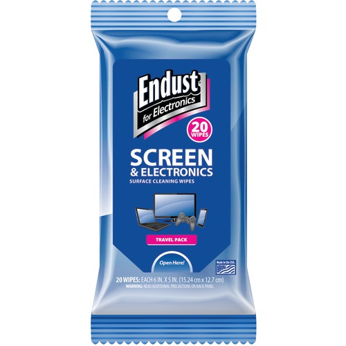 Endust Screen & Electronic Wipes Soft Pack, 20 Ct