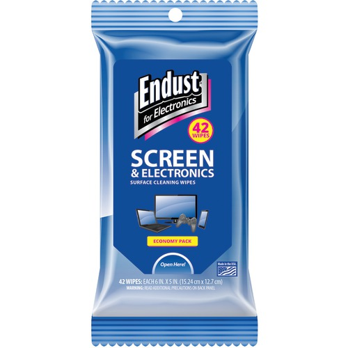 Endust Screen & Electronic Wipes Soft Pack, 42 Ct